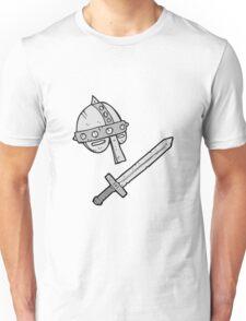cartoon medieval helmet Unisex T-Shirt