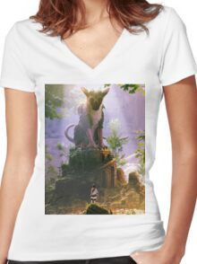The Last Guardian Women's Fitted V-Neck T-Shirt