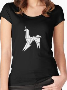 BLADERUNNER ORIGAMI UNICORN Women's Fitted Scoop T-Shirt