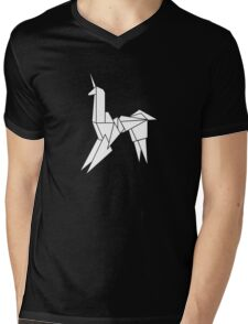 BLADERUNNER ORIGAMI UNICORN Mens V-Neck T-Shirt