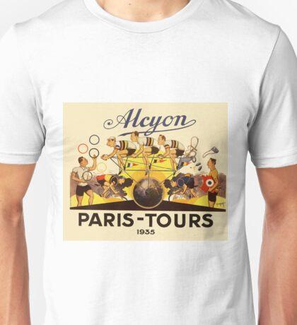 TOUR DE FRANCE; Vintage AlcyonBike Print Unisex T-Shirt