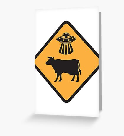 Cow Abduction Greeting Card