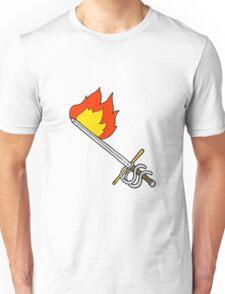 cartoon flaming sword Unisex T-Shirt