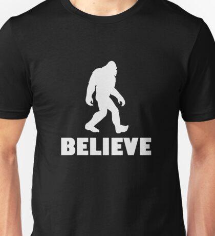 Bigfoot Sasquatch I Believe Tshirt Unisex T-Shirt
