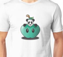 Panda in the Big Teal Apple Unisex T-Shirt