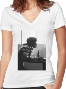 True Detective : Take Off Your Mask Women's Fitted V-Neck T-Shirt