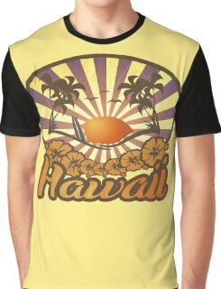 Hawaii Paradise Surf Beach Graphic T-Shirt