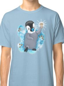 Winter Penguin holding a coffee Classic T-Shirt