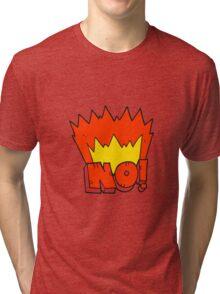 cartoon NO! shout Tri-blend T-Shirt