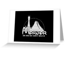 one does not simply walk in mordor Greeting Card