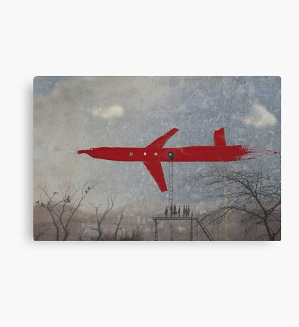 thick red line: air hub Canvas Print