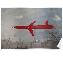 thick red line: air hub Poster