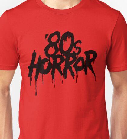 '80s Horror [Black] Unisex T-Shirt