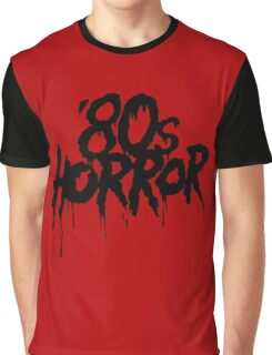 '80s Horror [Black] Graphic T-Shirt