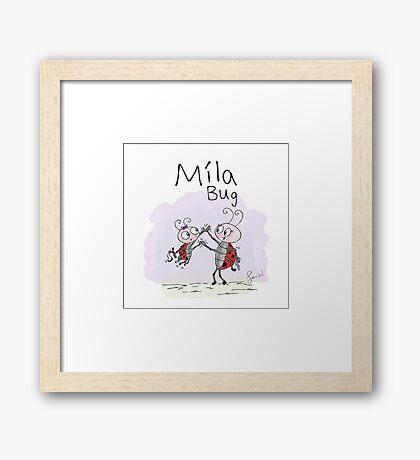 Mila Bug - High Five Framed Print