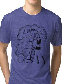 I Wanna Be Yours- Black Print Tri-blend T-Shirt