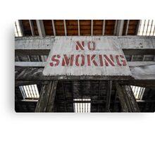 No Smoking Sign Canvas Print