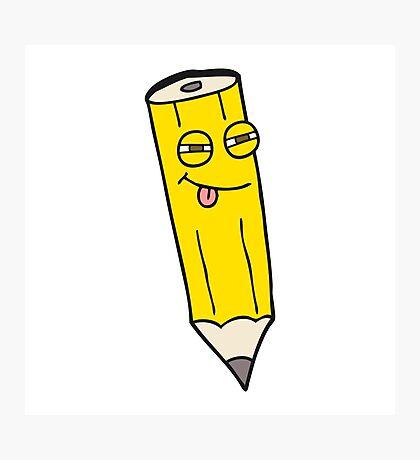 sly cartoon pencil Photographic Print