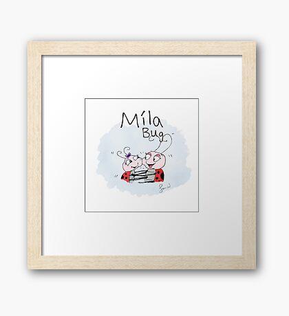 Mila Bug The Little Ladybird - Big Hugs Framed Print