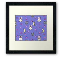 Sailor Moon R inspired Chibusa Luna-P Bedspread Blanket Print SuperS Version Framed Print