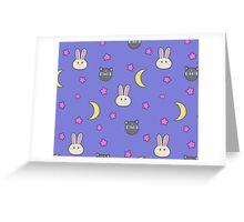 Sailor Moon R inspired Chibusa Luna-P Bedspread Blanket Print SuperS Version Greeting Card