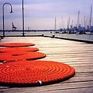 Rope Circles on jetty, Williamstown by Roz McQuillan