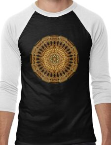 Earth Crystal Mandala Men's Baseball ¾ T-Shirt