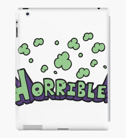 cartoon word horrible iPad Case/Skin