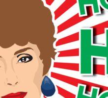 Blanche Devereaux - The Golden Girls Christmas Card Sticker