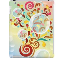 Explosion of colors - illustration of colorful shapes and bubbles iPad Case/Skin