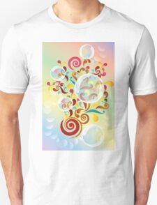 Explosion of colors - illustration of colorful shapes and bubbles T-Shirt