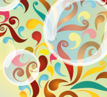 Explosion of colors - illustration of colorful shapes and bubbles Sticker