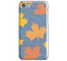 Autumn Leaves Spiral iPhone Case/Skin