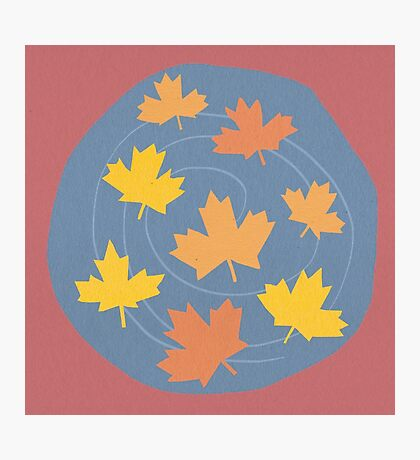 Autumn Leaves Spiral Photographic Print