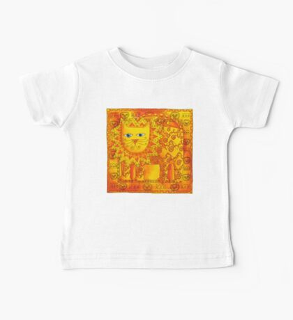 Patterned Lion Baby Tee
