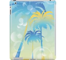 Tropical island - illustration with palm trees and bubbles  iPad Case/Skin