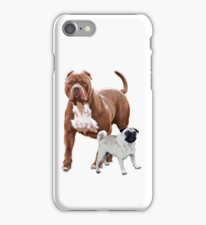 Pit bull pug 2 iPhone Case/Skin