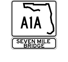 A1A - Seven Mile Bridge Photographic Print