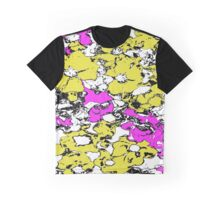 Yellow and Pink Flowers Graphic T-Shirt