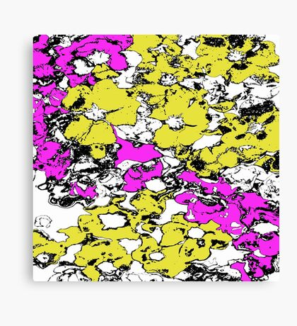 Yellow and Pink Flowers Canvas Print