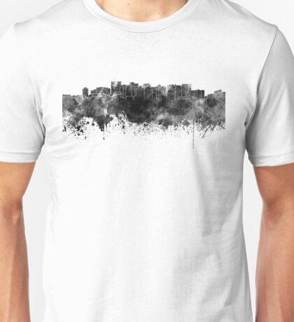 Oakland skyline in black watercolor Unisex T-Shirt