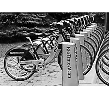 Bixi bikes Photographic Print