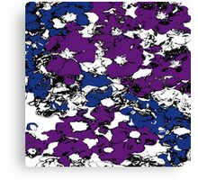 Purple and Blue Flowers Canvas Print