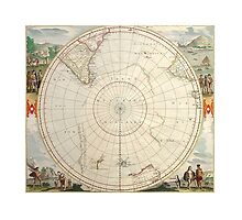 Antique map Southern Hemisphere by Solfie