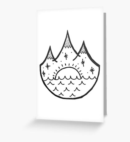 Snow and Ocean Greeting Card