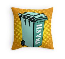 Trash ecology recycling tank Throw Pillow