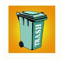 Trash ecology recycling tank Art Print