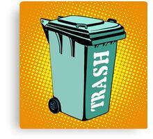Trash ecology recycling tank Canvas Print