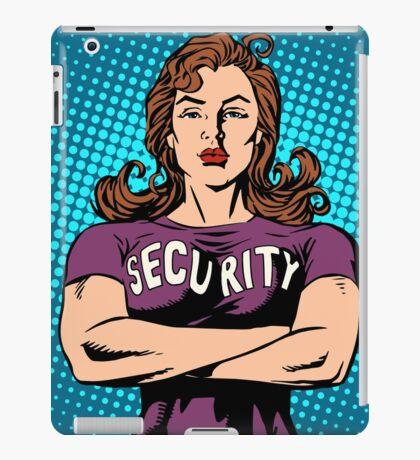 woman security guard iPad Case/Skin