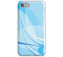 Snaggle Poof Blue Abstract Digital Wave iPhone Case/Skin